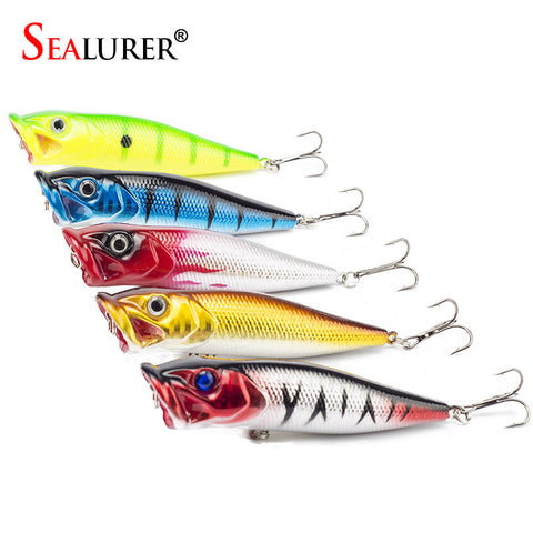5PCS/LOT Popper Lure 5 colors fishing tackle 9cm 13g fishing lure  fishing bait
