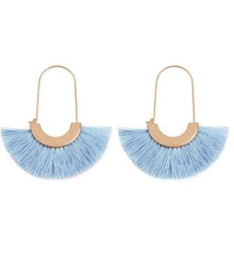 Fringe Fan Shaped Earrings