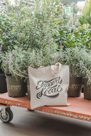 Support Local Canvas Tote