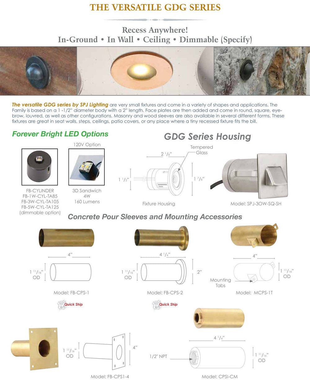 SPJ GDG Series Product & Mounting Information