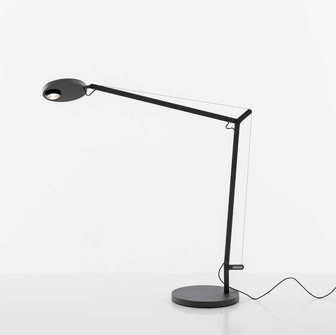 Artemide DEM2002 Demetra Professional 12W LED Dimmable Matte Black Table Light with Base - Seginus Lighting