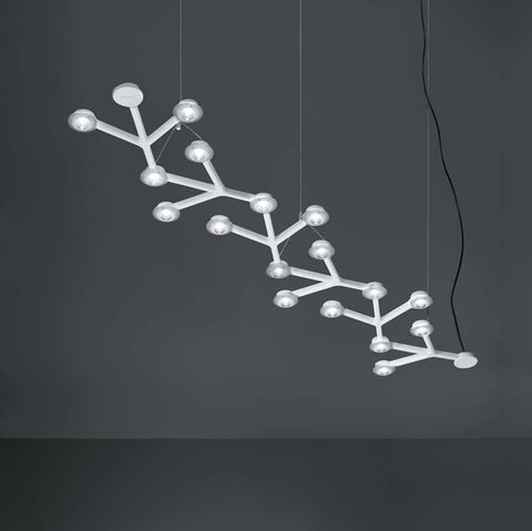 Artemide 1578058A Led Net 125 Inch Linear 30W LED Dimmable Suspension Light - Seginus Lighting