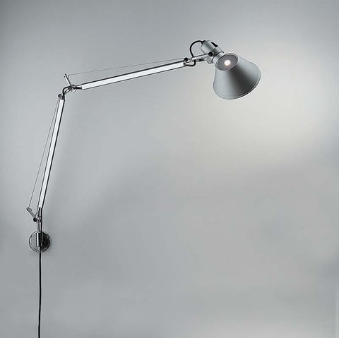 Artemide TOL1110 Tolomeo Classic 12W LED Aluminum Wall Light with S-Brackt - Seginus Lighting