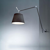 Artemide TLM110 Tolomeo Mega Max 150W E26 Black Wall Light - Seginus Lighting