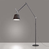 Artemide TLM01 Tolomeo Mega Max 150W E26 Diffuser Black Fiber Floor Light - Seginus Lighting
