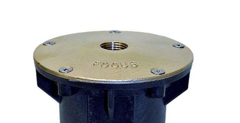 Focus Industries Brass Lid Only, Drilled a1/2a� NPS for Direct Burial Junction Box Db-12
