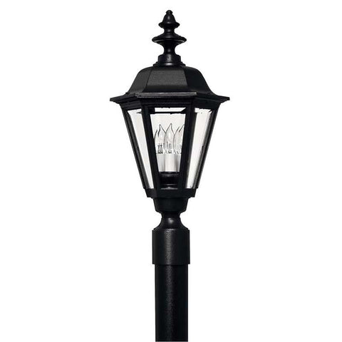 Hinkley 1441BK Outdoor Manor House Black Post Mount Lights