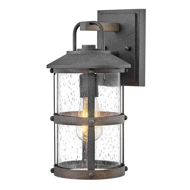 Hinkley 2680DZ Outdoor Lakehouse Aged Zinc Wall Lights