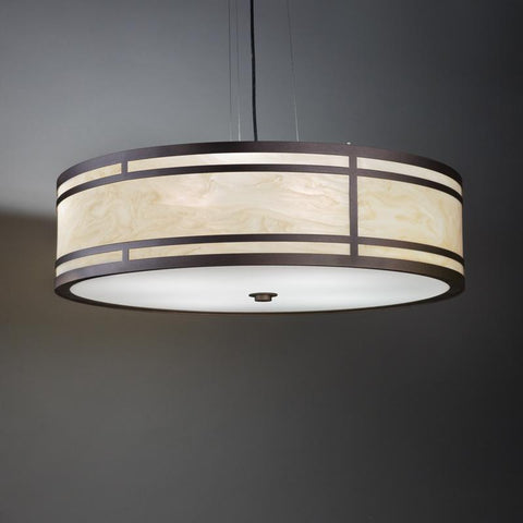 Tambour 13223-24-SFM Indoor/Outdoor Semi Flush Mount Pendant By Ultralights Lighting