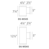 "WAC Lighting DS-WS05-CC Tube Architectural 5"" Color Changing Single Wall Mount Additional Image 4"
