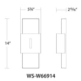 WAC Lighting WS-W669 Passage Outdoor Wall Sconce 3000K Additional Image 4