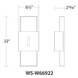 WAC Lighting WS-W669 Passage Outdoor Wall Sconce 3000K Additional Image 5