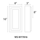 WAC Lighting WS-W7781 Inset Outdoor Wall Sconce 3000K Additional Image 5