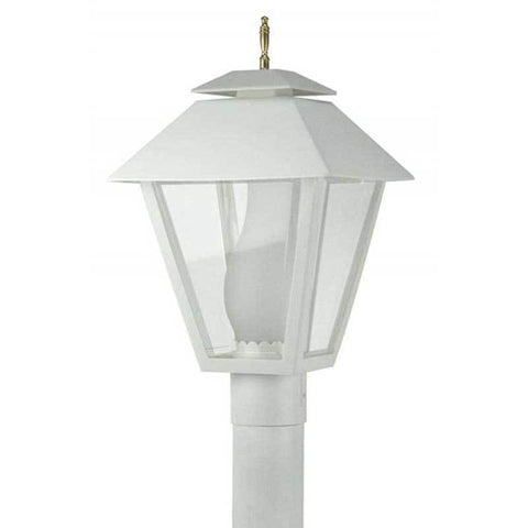 Wave Lighting 111 Colonial Post Top with Glass Chimney