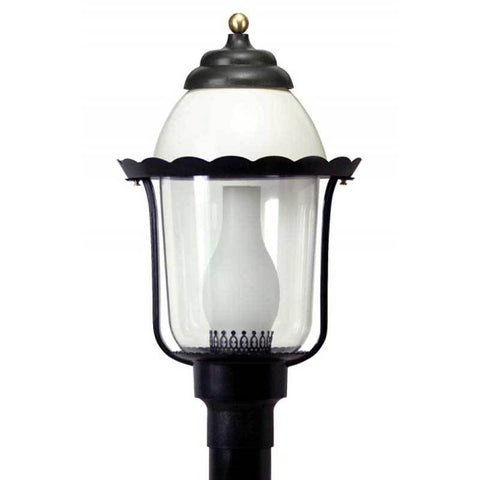 Wave Lighting 123 Victorian Post Top with Glass Chimney