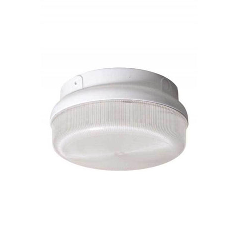 Wave Lighting 165FMF-L22-WH-O Guardian Round Outdoor Wall/Ceiling Mount with Occupancy Sensor