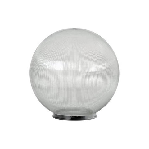 "Wave Lighting 1869-8N 18"" Clear Pismatic Globe with 8"" Fitter Neck Opening Diffuser"
