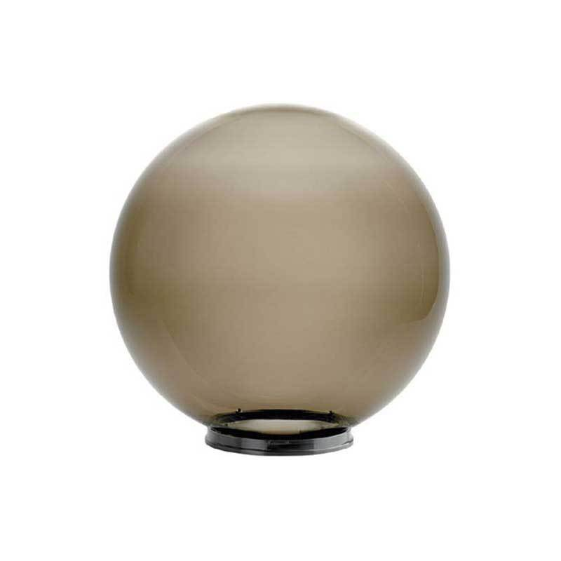 """Wave Lighting 2068-8N 20"""" Smoke Globe with 8"""" Fitter Neck Opening Outdoor Diffuser"""