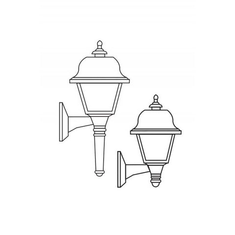 Wave Lighting 407 Saxony Outdoor Wall Mount with Long & Short Tail