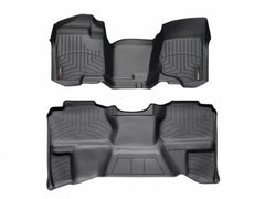 WeatherTech DigitalFit First & Second Row Over the Hump Floor Liners 2007-2013 Chevy/GMC 1500 - Black
