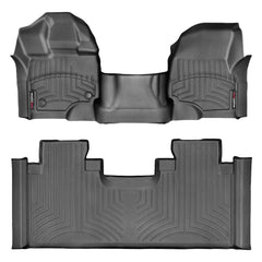 WeatherTech DigitalFit First & Second Row Over the Hump Floor Liners 2015-2017 Ford F-150 - Black