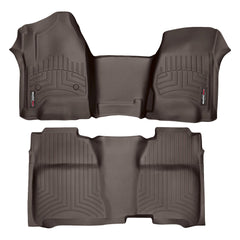 WeatherTech DigitalFit First & Second Row Over the Hump Floor Liners 2014-2017 Chevy/GMC 1500 - Cocoa