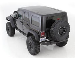 Smittybilt Hard Top 2 Piece W/O Upper Doors 07-Pres Wrangler JK 4 DR Textured Black