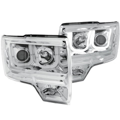 Anzo 111264 - Chrome U-Bar Projector LED Headlights