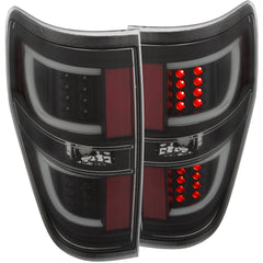 Anzo 311257 - Black Fiber Optic LED Tail Lights
