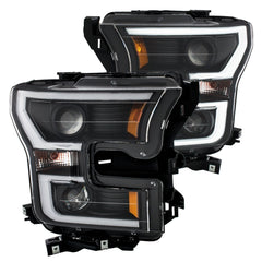 Anzo 111347 - Black U-Bar Projector LED Headlights