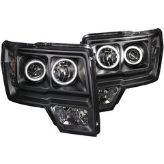 Anzo 111161 - Black CCFL Halo Projector LED Headlights