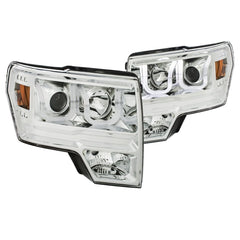 Anzo 111352 - Chrome U-Bar Projector LED Headlights