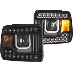 Anzo 111316 - Black U-Bar Projector LED Headlights