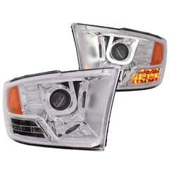 Anzo 111269 - Chrome U-Bar Projector LED Headlights