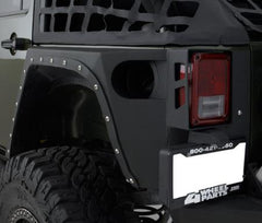 Smittybilt XRC Rear Corner Guards 07-Pres Wrangler JK 2DR Black Textured