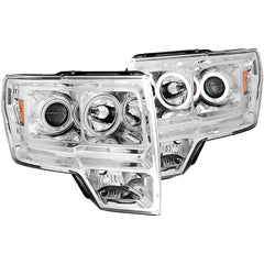 Anzo 111162 - Chrome CCFL Halo Projector LED Headlights