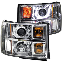Anzo 111283 - Chrome U-Bar Projector LED Headlights
