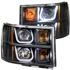 Anzo 111284 - Black U-Bar Projector LED Headlights