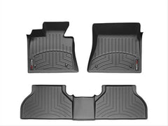 WeatherTech DigitalFit First & Second Row Over the Hump Floor Liners 2014-2017 Chevy/GMC 1500 - Black