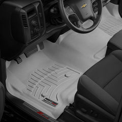 WeatherTech DigitalFit First & Second Row Over the Hump Floor Liners 2014-2017 Chevy/GMC 1500 - Gray