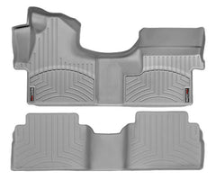 WeatherTech DigitalFit First & Second Row Over the Hump Floor Liners 2007-2013 Chevy/GMC 1500 - Gray