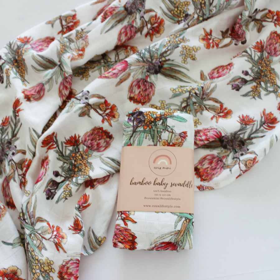 Wildflower Muslin Wrap
