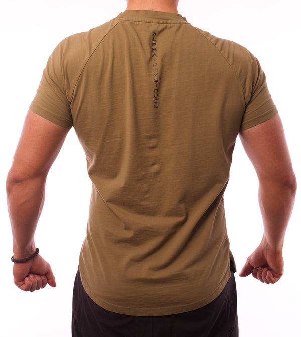 Performance Crew Neck Tee - Olive/Black