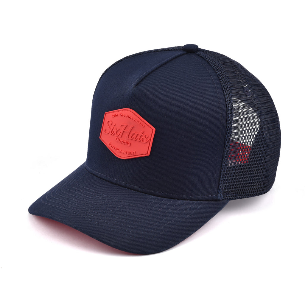 Red & Blue SixHats Signature Snapback Hat
