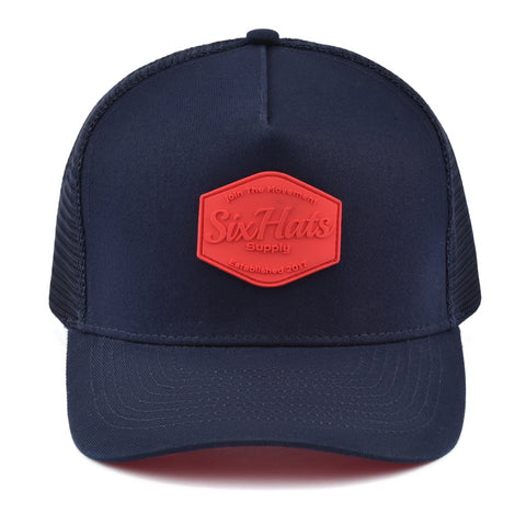Image of Red & Blue SixHats Signature Snapback Hat