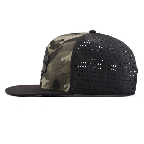 Image of Black & Camo SixHats Signature Snapback Hat