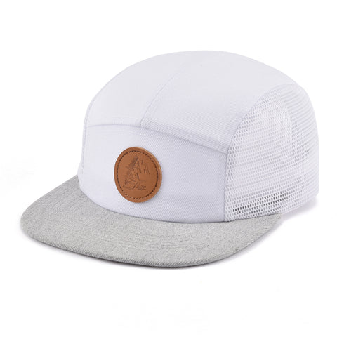 Image of White & Grey Cottage Life 5 Panel Hat