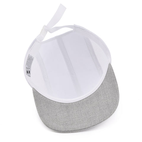 White & Grey Cottage Life 5 Panel Hat