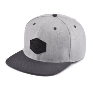 Grey Two Tone SixHats Signature Snapback Hat