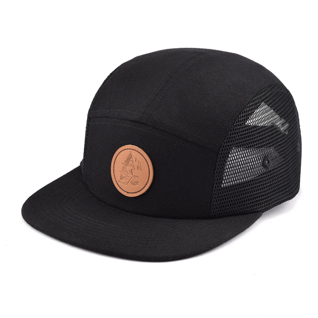 Black Mesh Cottage Life 5 Panel Hat